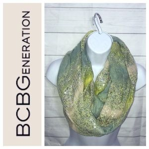 BCBGeneration Green Infinity Scarf Sequin